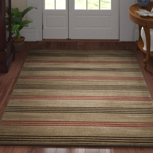 Pleasantville Light Brown Area Rug by Three Posts