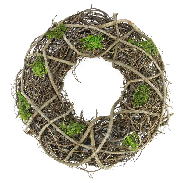 Moss and Twig Artificial Spring Floral Wreath by Northlight Seasonal