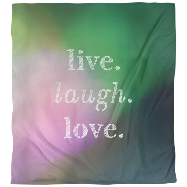 Quotes Live Laugh Love Single Reversible Duvet Cover