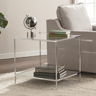 Busey Bottom Shelf Glam Mirrored End Table by Latitude Run