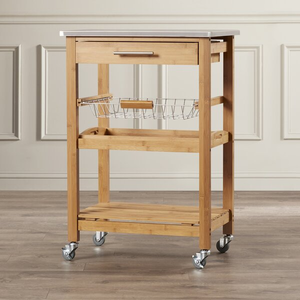 Amazing Servin Kitchen Cart With Stainless Steel Top By Charlton Home Savings