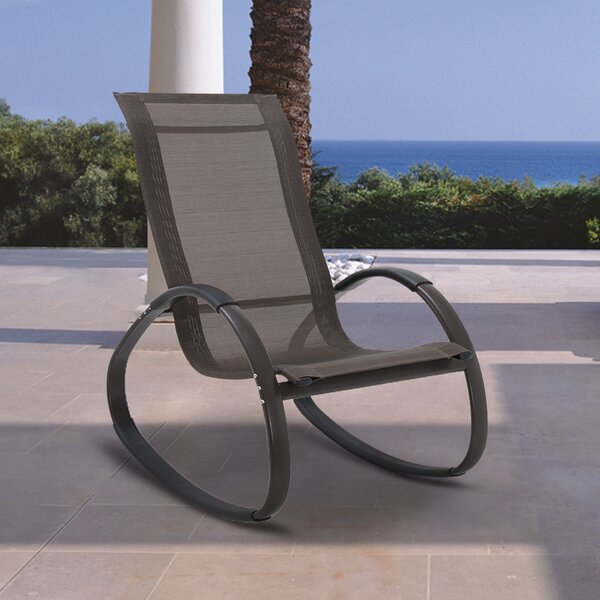 Ipleigh Ultra-light Aluminum Rocker Chair by Latitude Run