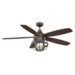 Kitchen ceiling fan with light wayfair 52 wilburton 5 blade ceiling fan with remote aloadofball Image collections