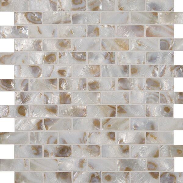 Santorini Brick Glass Mosaic Tile in White by MSI