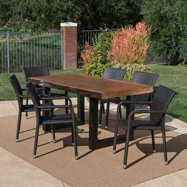 Crosby Outdoor 7 Piece Dining Set by Foundry Select
