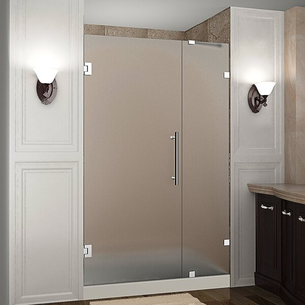 Nautis 34 x 72 Hinged Completely Frameless Shower Door by Aston