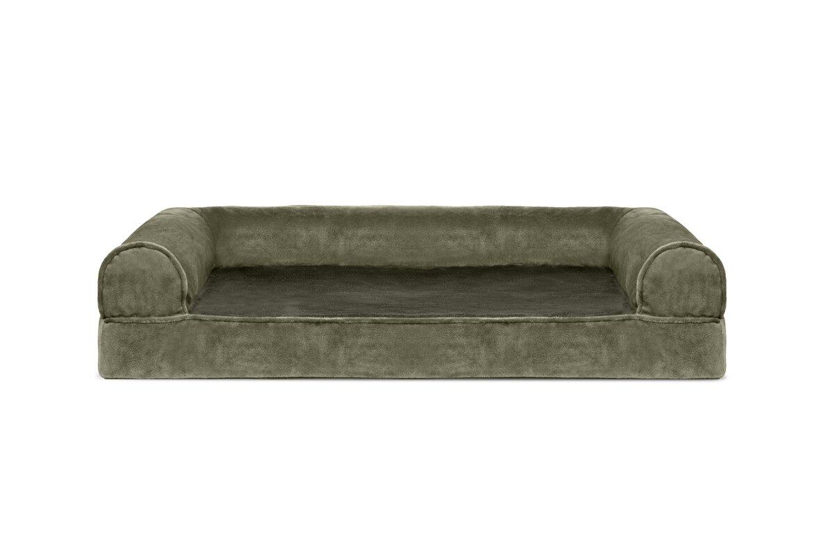 Caddy Faux Fur And Velvet Orthopedic Dog Sofa