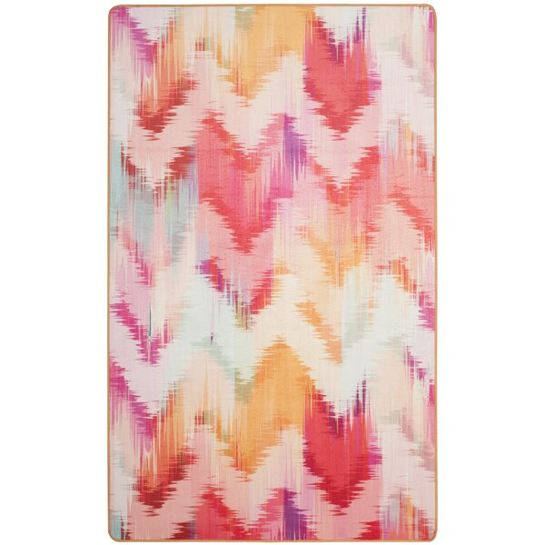 Janiyah Ikat Pink Area Rug by Bungalow Rose