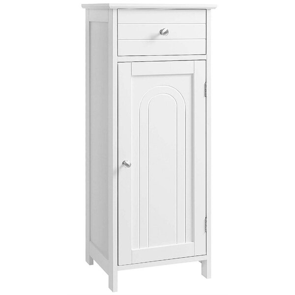 Alex 11.8'' W x 34.3'' H x 13.8'' D Free-Standing Bathroom Cabinet