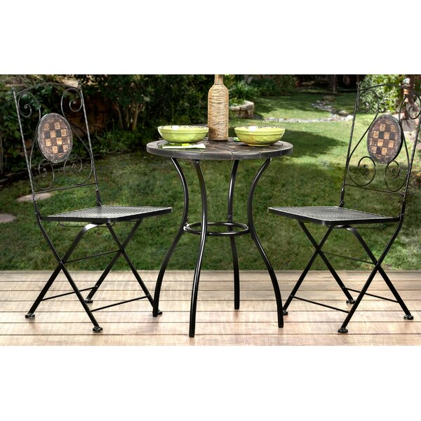 Marian Folding Patio Dining Chair (Set of 2) by Bungalow Rose Bungalow Rose