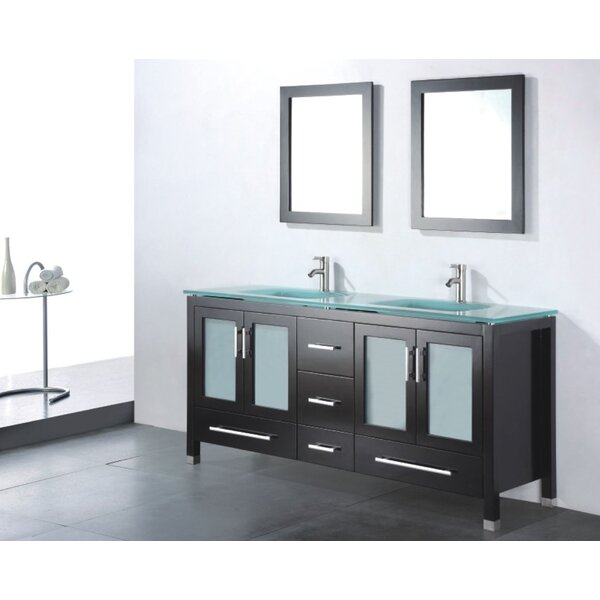 Amara 60 Double Bathroom Vanity Set with Mirror by Adornus