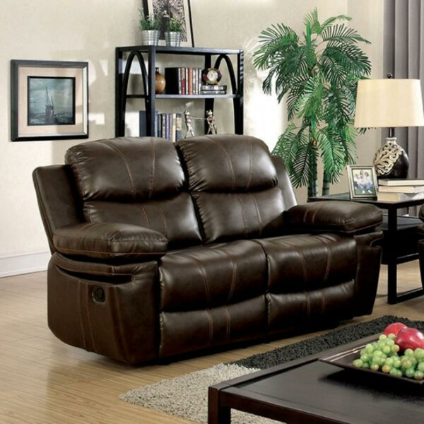 Buy Online Discount Hayden Leather Loveseat by Red Barrel Studio by Red Barrel Studio