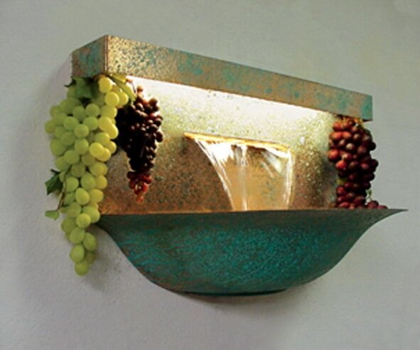 Copper Grape Bowl Wall Mounted Fountain by Nayer Kazemi