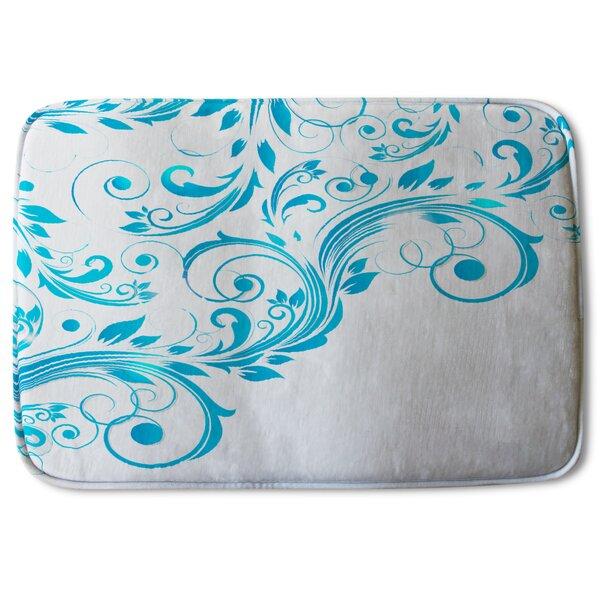 Andromache Swirls Designer Bath Rug