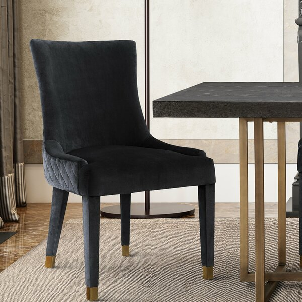 Diego Upholstered Dining Chair (Set of 2) by Everly Quinn