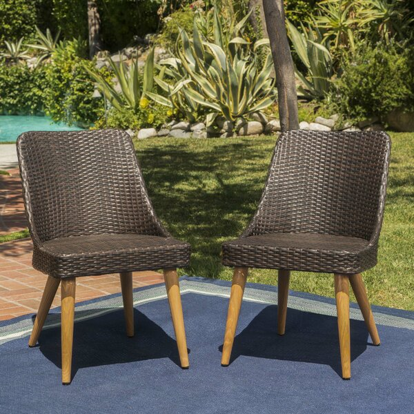 Wyatt Patio Dining Chair (Set Of 2) By George Oliver by George Oliver New Design