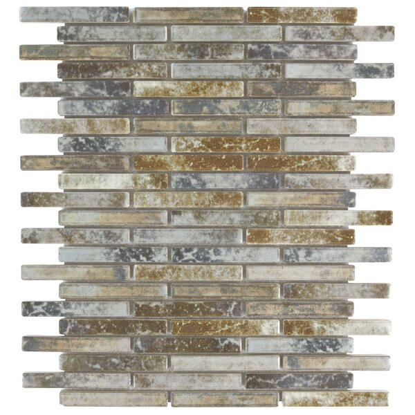 Arcadia 0.5 x 3.5 Porcelain Mosaic Tile in Noce Slate by EliteTile