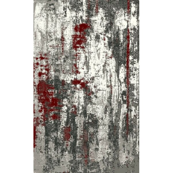 Roby Black/Red/Silver Indoor/Outdoor Area Rug