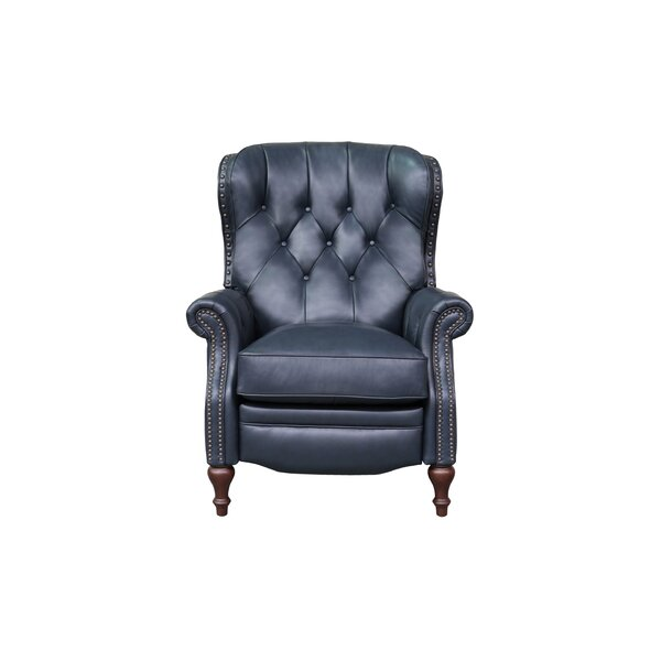 McManus Leather Manual Recliner By Darby Home Co