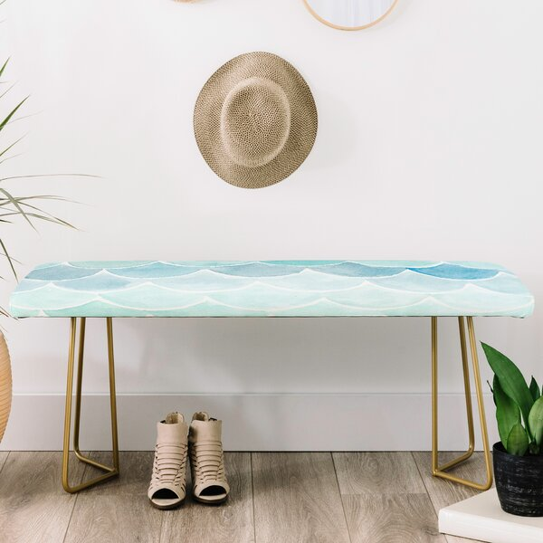 Wonder Forest Faux Leather bench by East Urban Home