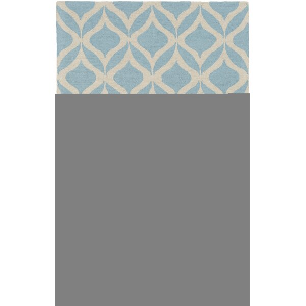 Mowrey Hand-Tufted Light Blue Area Rug by Ebern Designs