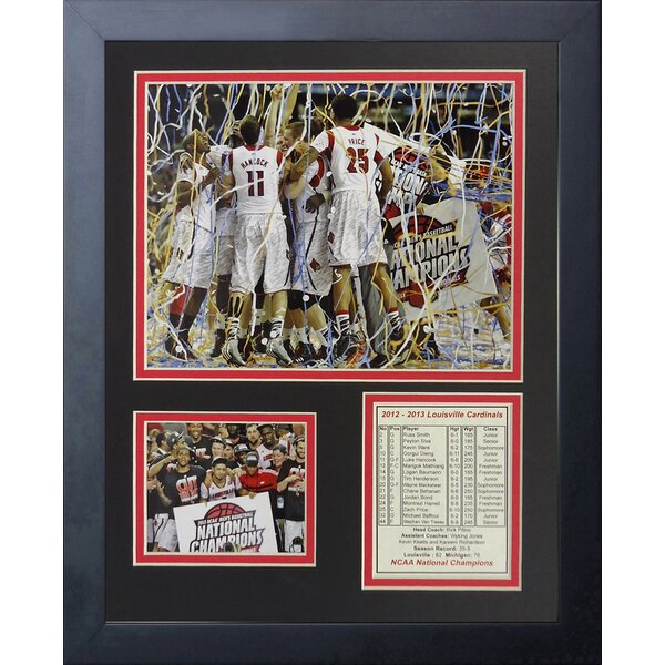 2013 Louisville Cardinals Champions - Celebration Framed Memorabilia by Legends Never Die