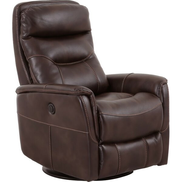 Haliburton Power Glider Swivel Recliner by Three Posts