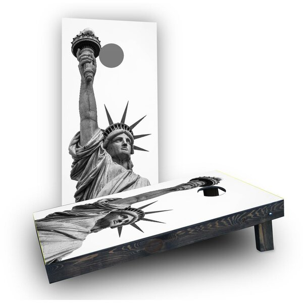 Lady Liberty Statue Cornhole Boards (Set of 2) by Custom Cornhole Boards