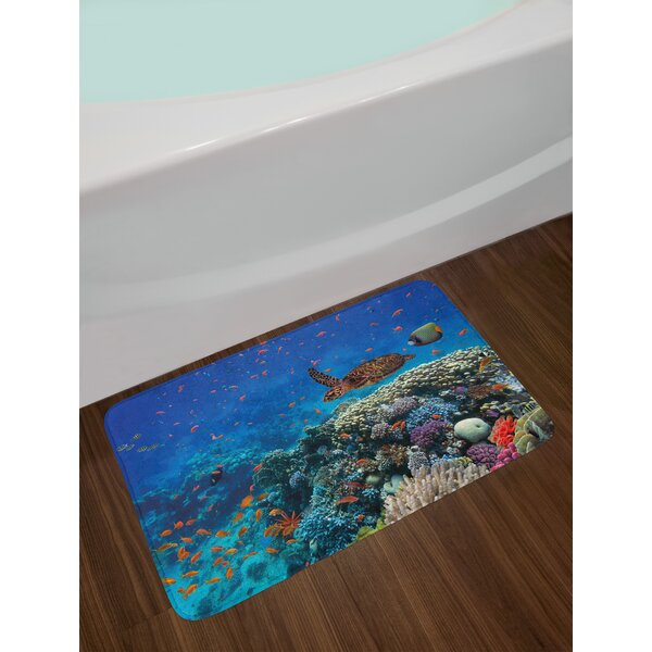 Exotic Multicolor Fish Bath Rug by East Urban Home