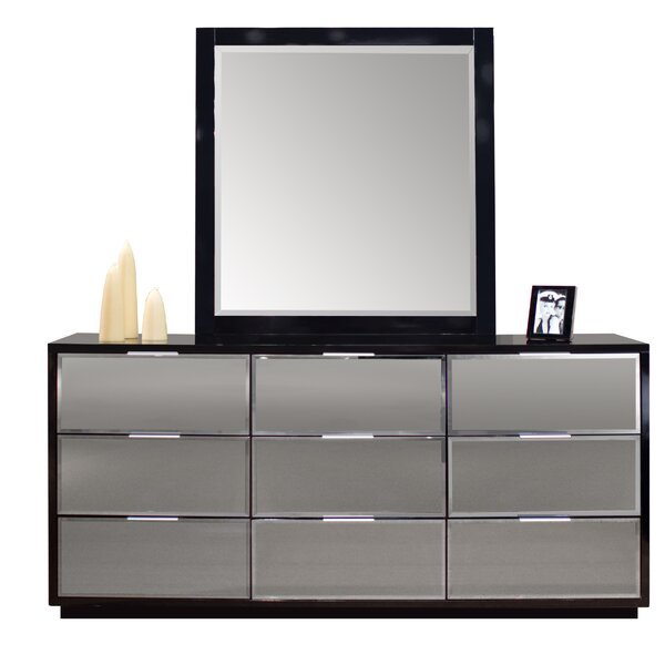 Elkville 9 Drawer  Bachelors Chest with Mirror by Orren Ellis