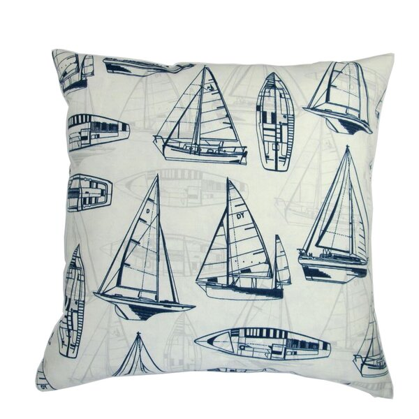 Chea Sailboat Indoor/Outdoor Pillow by Longshore Tides