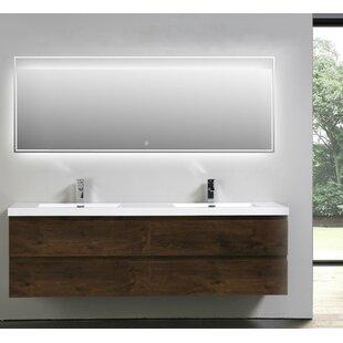 Lina 71 Wall Mounted Double Bathroom Vanity Set ByOrren Ellis