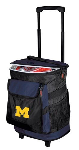 Collegiate Rolling Cooler - Michigan by Logo Brands