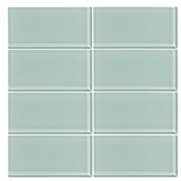 3 x 6 Glass Subway Tile in Seafoam by Vicci Design