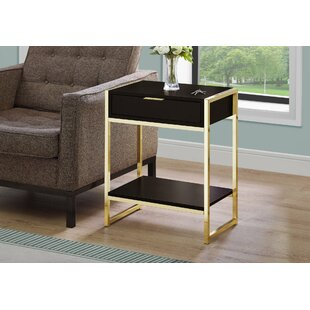Haings End Table with Storage by Mercer41