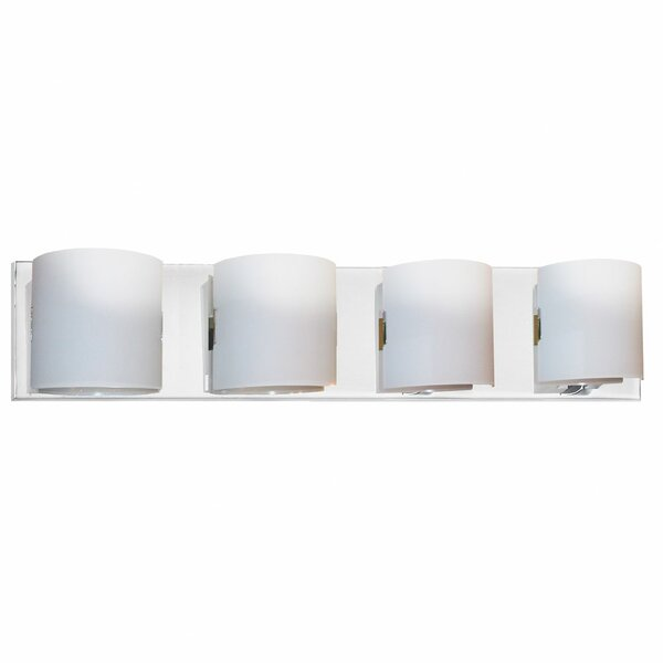 Omar Frosted Glass 4-Light Bath Bar by Latitude Run