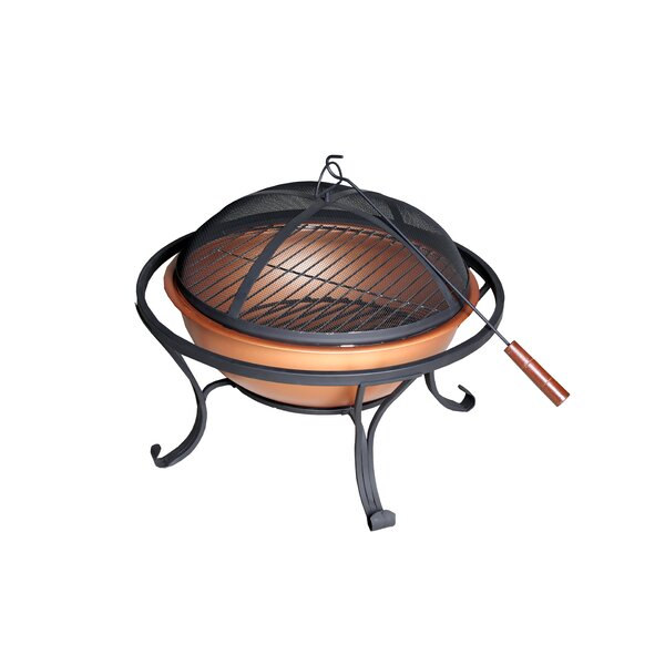 Steel Charcoal Fire Pit by California Outdoor Designs