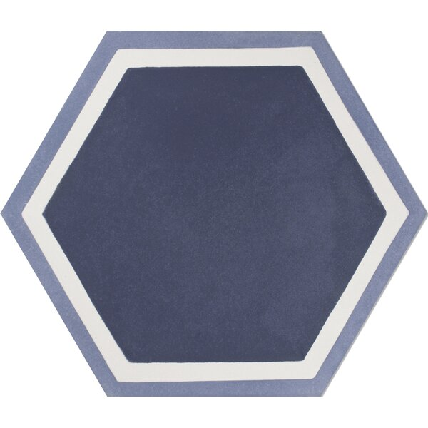 Mediterranea Hex 8 x 8 Quarry Hand-Painted Tile in Purple by Kellani