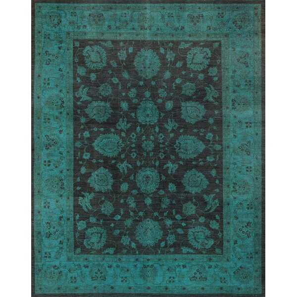 Overdyes Hand-Knotted Brown/Green Area Rug by Pasargad