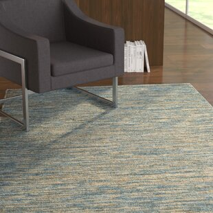 Affordable Price Catalano Hand-Woven Blue Area Rug By Latitude Run