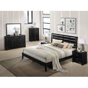 wood bedroom set. Gloria Wood Panel Configurable Bedroom Set Solid Furniture  Wayfair