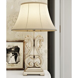 French country table lamps wayfair liseron ornate 58 cm table lamp mozeypictures Choice Image