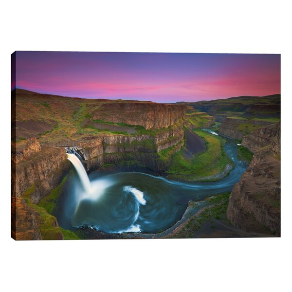 Palouse Falls by Jesse Estes Photographic Print on Wrapped Canvas by Cortesi Home