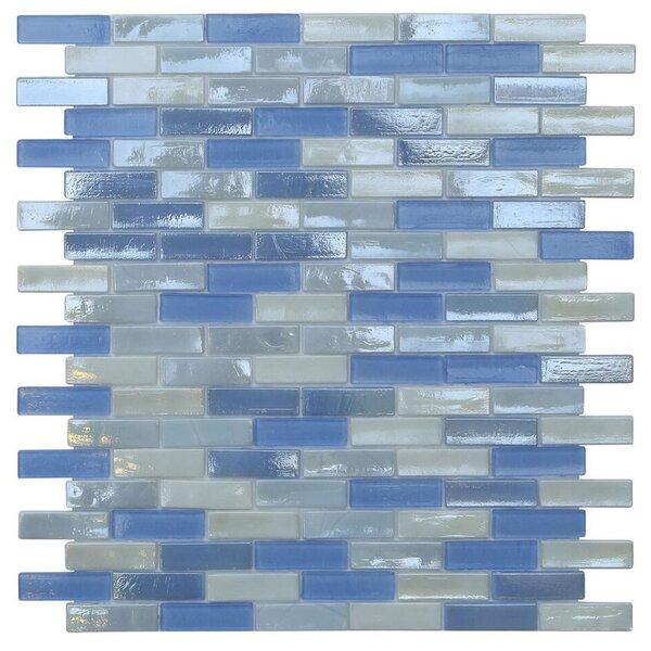 Opal 0.63 x 1.88 Glass Mosaic Tile in Victoria Falls by Kellani