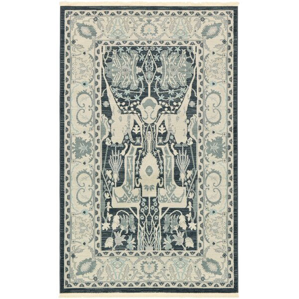 Zoey Dark Gray Area Rug by World Menagerie