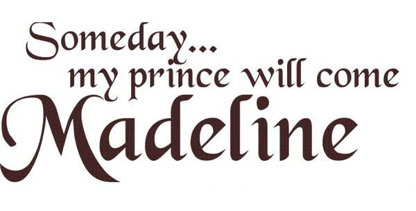 Personalized Someday My Prince Will Come Wall Decal by Alphabet Garden Designs