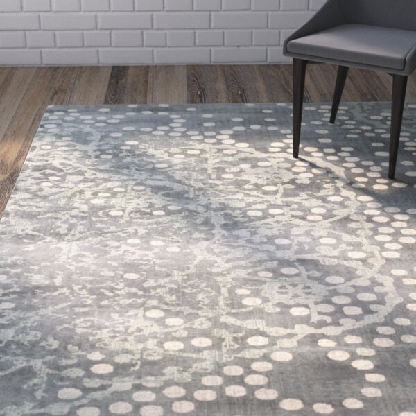 Stave Gray Area Rug by Wrought Studio