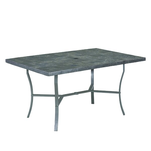 Stone Veneer Stone/Concrete Dining Table by Home Styles