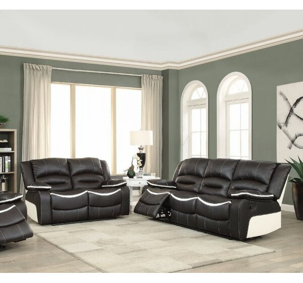 Muniz Reclining Motion 2 Piece Living Room Set by Ebern Designs