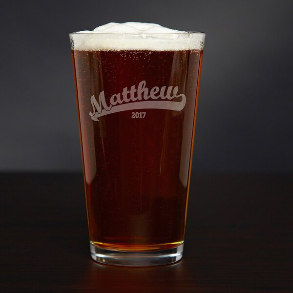 Ballpark Personalized 16 oz. Glass Pint Glass by Home Wet Bar